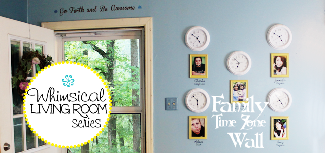 Whimsical Living Room #8 : Family Time Zone Wall