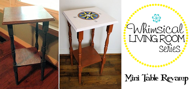 Whimsical Living Room #7 : Mini Table Revamp