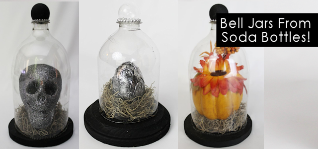 Make this spooky specimen jar halloween decor from a plastic soda bottle! An easy, inexpensive upcycle that can be used to hold all types of things!