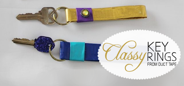 Classy Key Rings With Duct Tape
