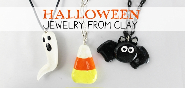 Simple Halloween Jewelry From Clay FE