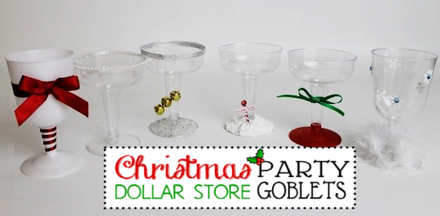 Plastic Holiday Goblets : Christmas Party Ideas