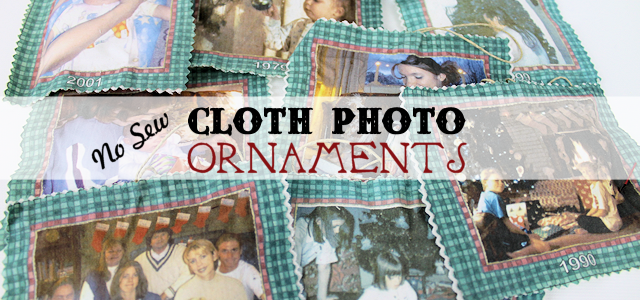 No Sew Cloth Photo Ornaments