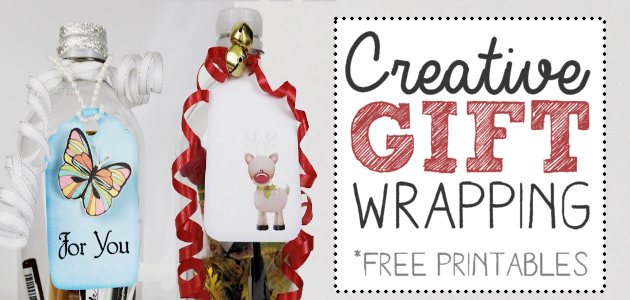 Creative Gift Wrapping Ideas :  Soda Bottles!