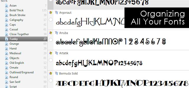 Font Organizing Can Be Fun!