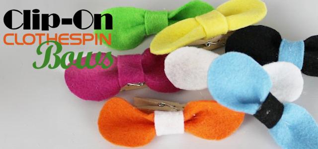 Clip On Clothespin Bows