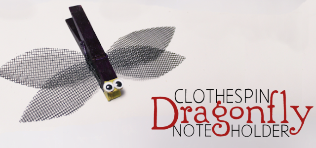 Dragonfly Note Holder