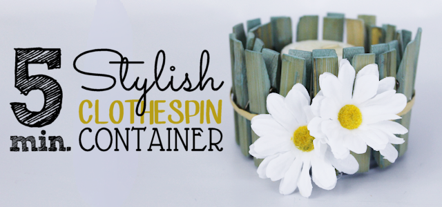 5 Minute Stylish Clothespin Craft Container