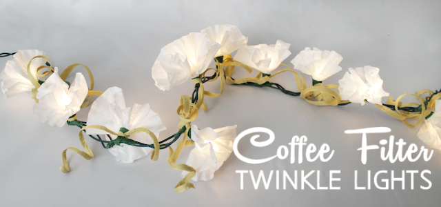Coffee Filter Twinkle Light Flowers