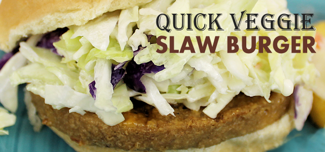 Quick Veggie Slaw Burger : A Delicious Veggie Burger!