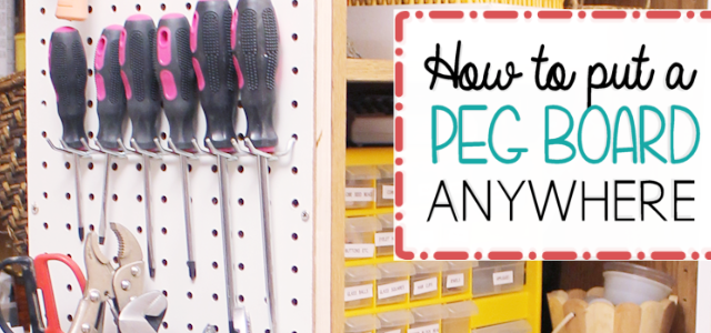 Hang Pegboard Anywhere & Get Organized!