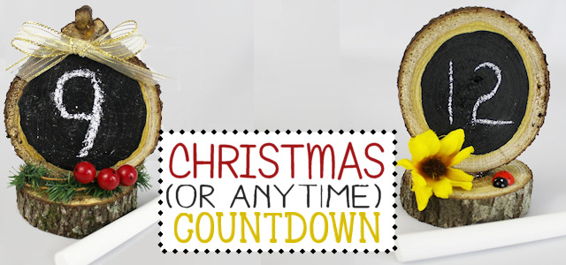 Make a Countdown From Wood Slices For Any Event!