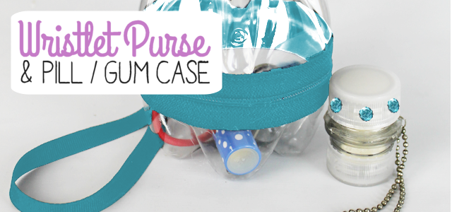 This little wristlet and pill gum case accessory set is as cute as can be and all you need is two tiny plastic soda bottles. It's an upcycle and fashion statement all in one! Carry these around and you'll have people asking you how you did it! Who knows… you'll maybe inspire others to do some upcycling themselves!