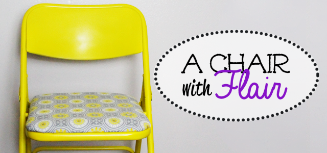 A Chair With Flair : Paint a Folding Chair