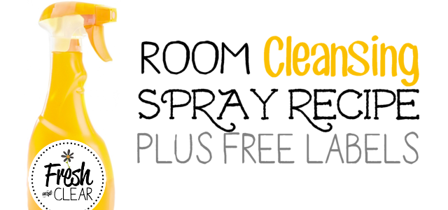 Cleansing Room Spray Air Freshener Recipe