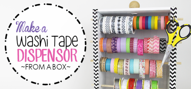 Make a Washi Tapes Dispenser From a Box