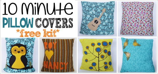 The 10 Minute Pillow Cover with Free Patterns