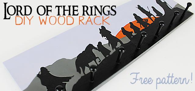 DIY Lord of the Rings Art Wood Rack