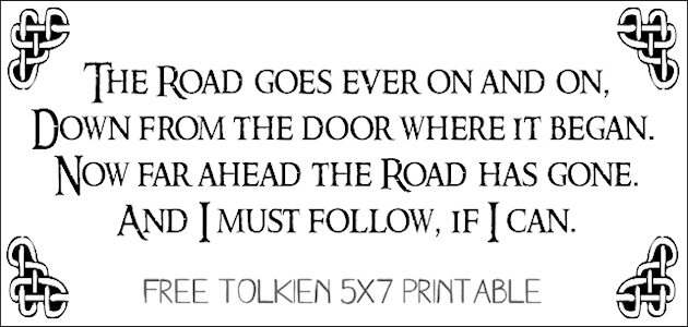 Free Tolkien Quote Printable FE