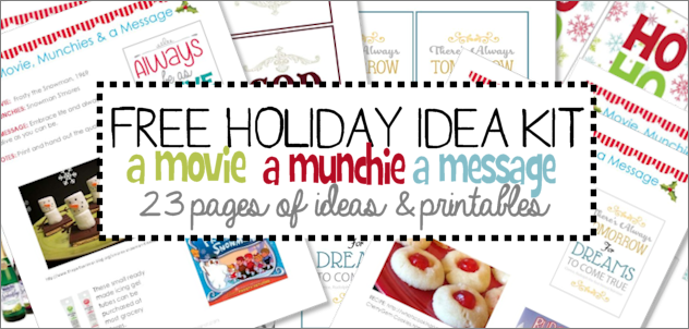 Christmas Eve Traditions: a Movie a Munchie a Message (Plus DIY Quote Gift!)