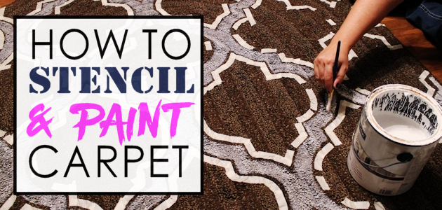 How to Stencil & Paint Carpet. Give Your Rugs a Makeover!