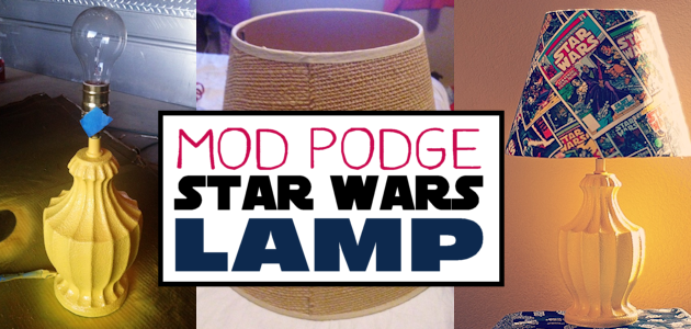 Mod Podge Star Wars Lamp