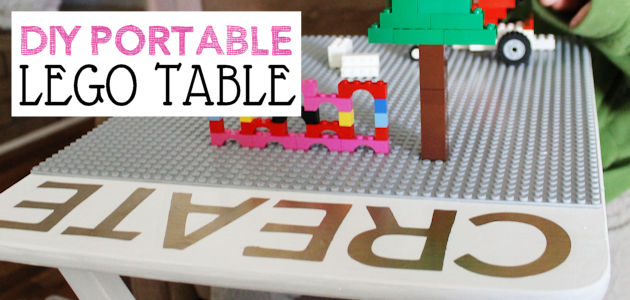 Portable DIY Lego Table