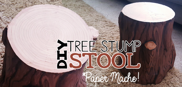 DIY Tree Stump Stool – FE