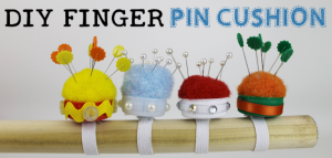 DIY Finger Pin Cushion 14blank630x20 This tiny 10 minute pin cushion is a huge help for anyone who sews. Made using the lid from a plastic bottle you can make it any color or style you want!