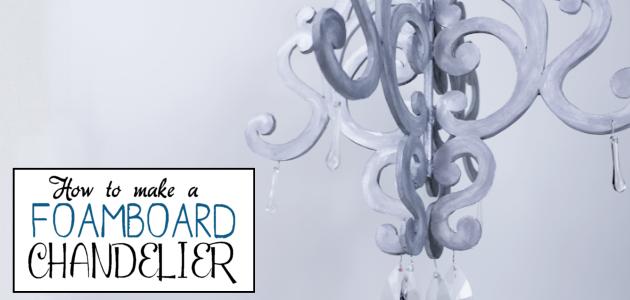 DIY Chandelier from Foam Board