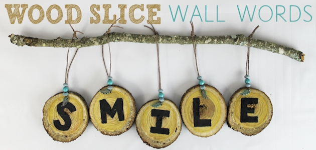 Wood Slice Wall Words DIY FE