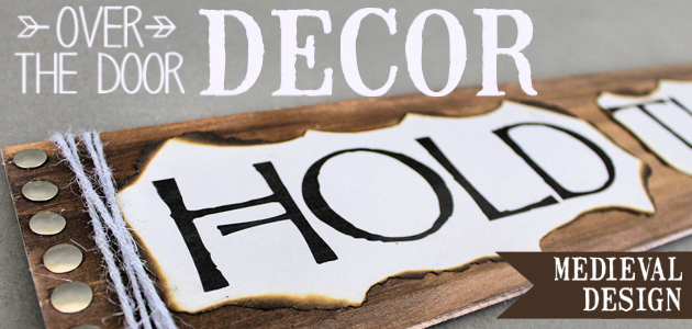 How to Make an Unbelievably Easy & Stylish Hold the Door Sign!