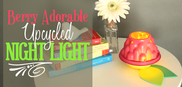 "How To Make a ""Berry"" Adorable Upcycled DIY Room Decor Light!"