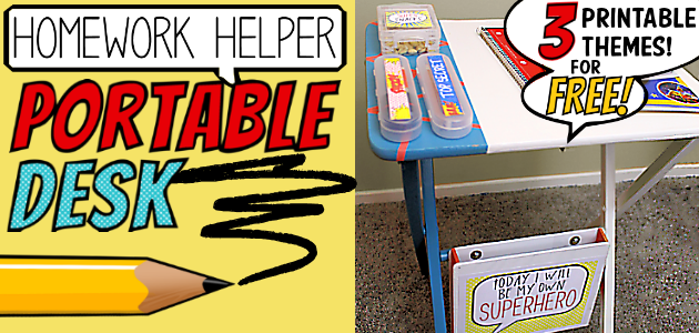 How to Make an Easy Homework Helper Portable Desk