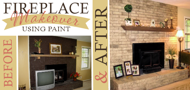 Easy and inexpensive fireplace makeover FE