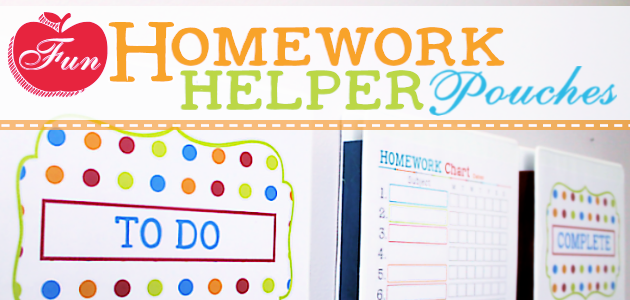 How to Make Fun Homework Helper Wall Pockets from 3 Ring Binders