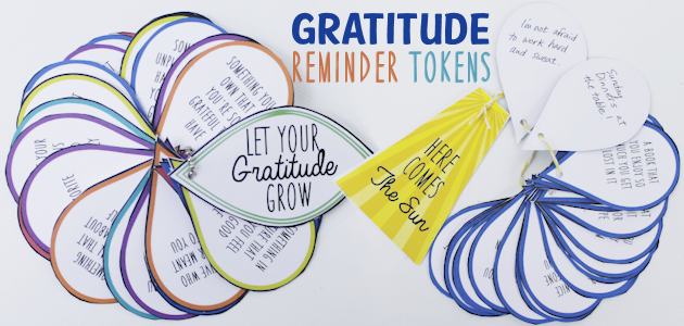 Being thankful can be tricky when life gets hard. Make a gratitude token for any age to remind us how lucky we are when we need it most! Free printables.