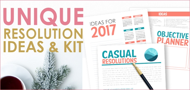 Unique New Years Resolution Ideas Kit 2017 : Casual Resolutions!
