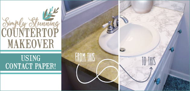Superieur ... Transform Your Bathroom For Only A Few Dollars With A Contact Paper  Countertop. Youu0027