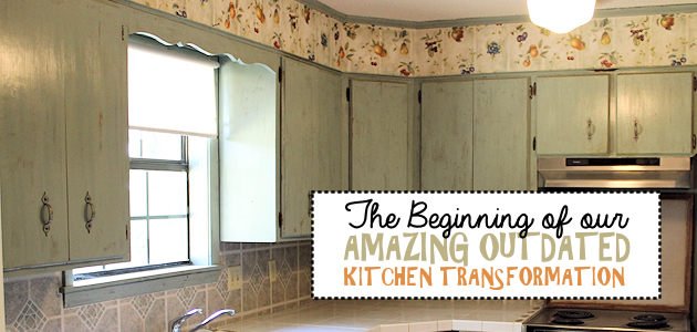 The Beginning of an Amazing Outdated Kitchen Transformation