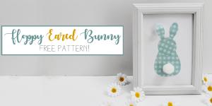 Cute Frameable Floppy Eared Bunny Easter Decorations