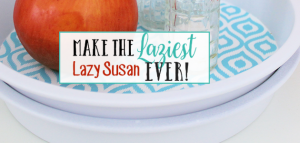 This DIY Lazy Susan is one of the most awesome upcycle projects ever and it's incredibly useful and inexpensive to make. Plus it has all kinds of uses!