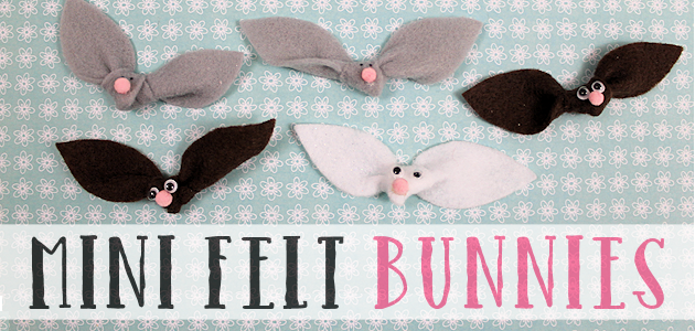 Mini Felt Bunnies for a Variety of Uses : Easter Crafts