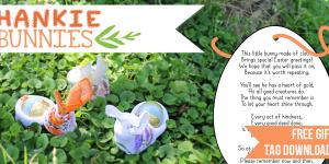 DIY Handkerchief Bunny with Special Easter Greetings Poem
