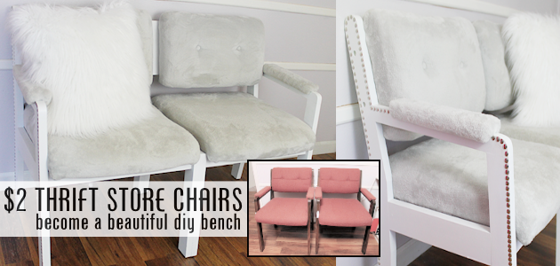Thrift Store Chairs to Bench Seat FE