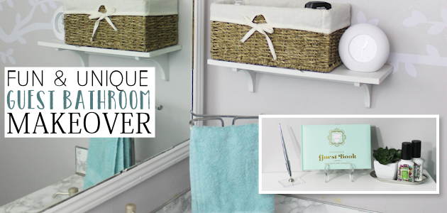 Fun & Unique Guest Bathroom Ideas & Makeover