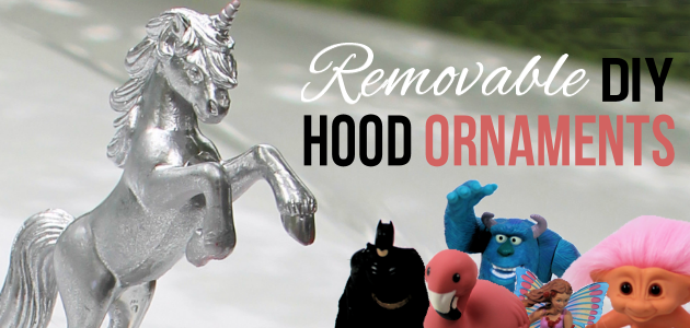 Girly Car Accessories: Removable DIY Hood Ornaments