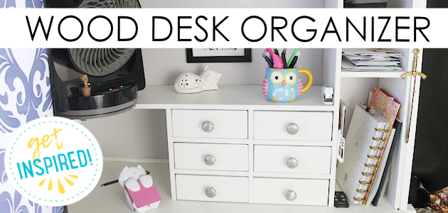 We built this lovely custom desk organizer with some basic wood tools. It comes with the Google Sketchup file you can adjust to fit your own needs