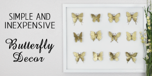 Inexpensive DIY Framed Butterfly Decor