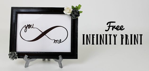 Looking for a quick and easy piece of DIY bedroom decor? Download our free couple's infinity symbol, frame it and add some flowers. How's that for easy?